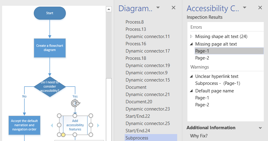 Ensuring Accessibility in Visio