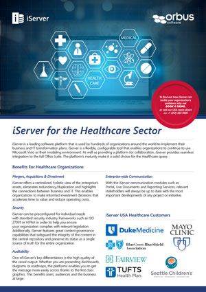 iServer for the Healthcare Sector Flyer