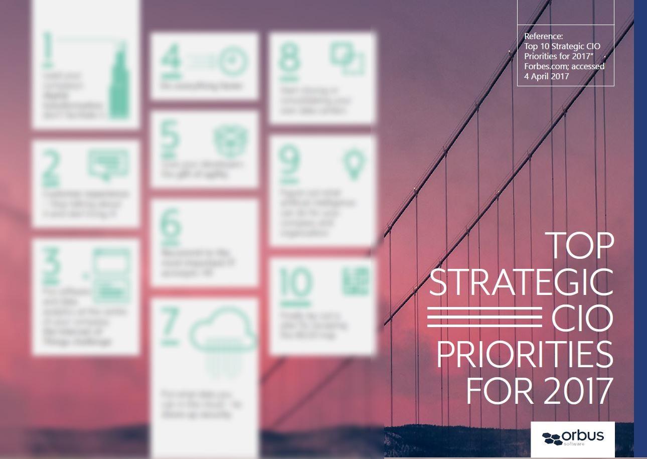 Top 10 Strategic CIO Priorities for 2017