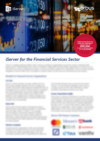 iServer for the Financial Services Sector Flyer