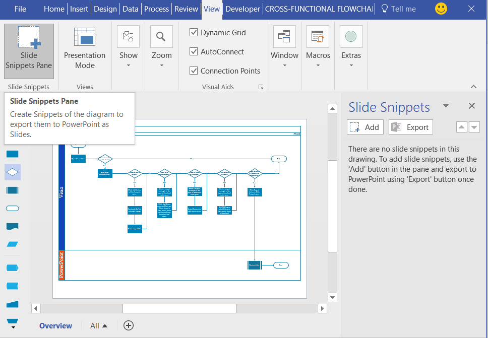 orbus templates - slide snippets in visio pro for office365 orbus visio blog
