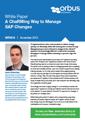 A ChaRMing Way to Manage SAP Changes