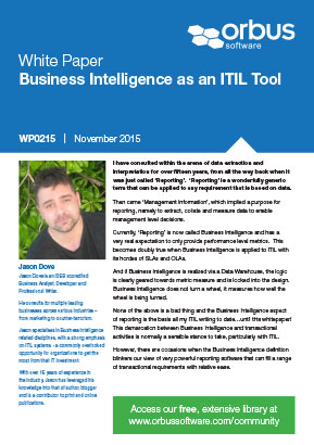 Business Intelligence as an ITIL Tool