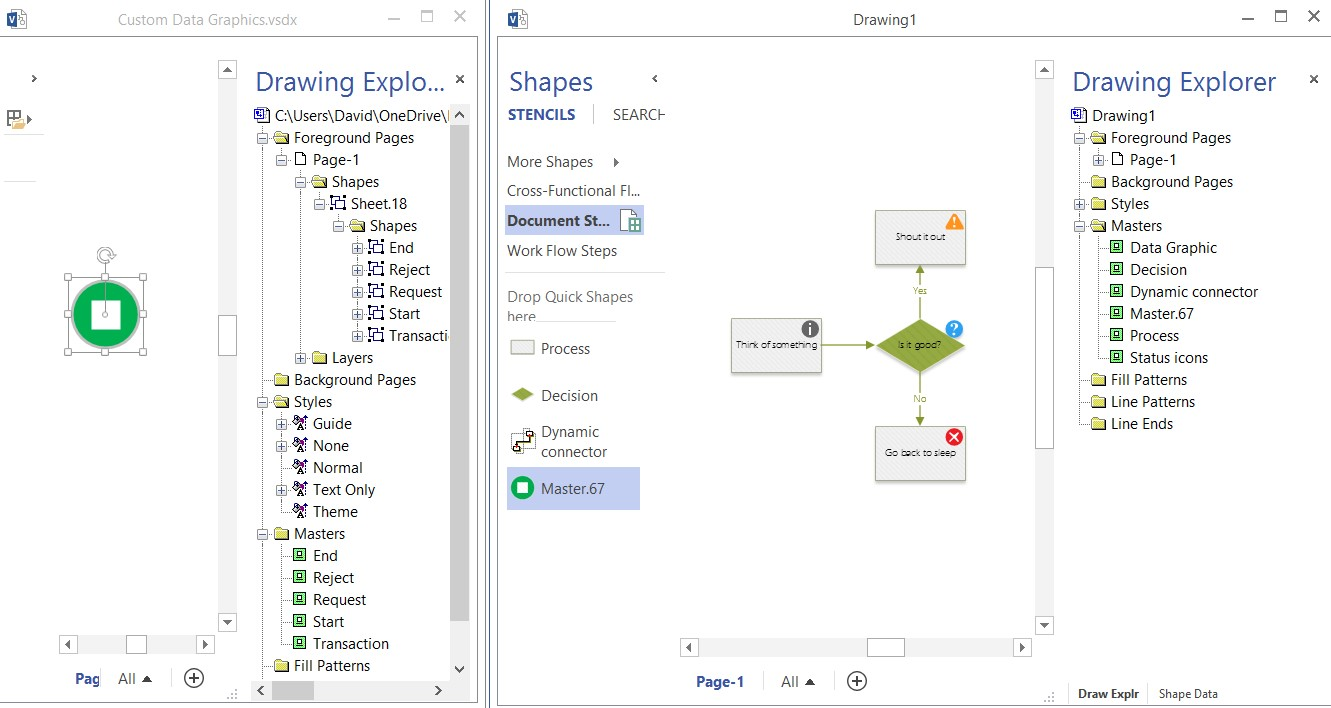 data mining part 25 microsoft visio add ins sqlservercentral working with connected diagrams