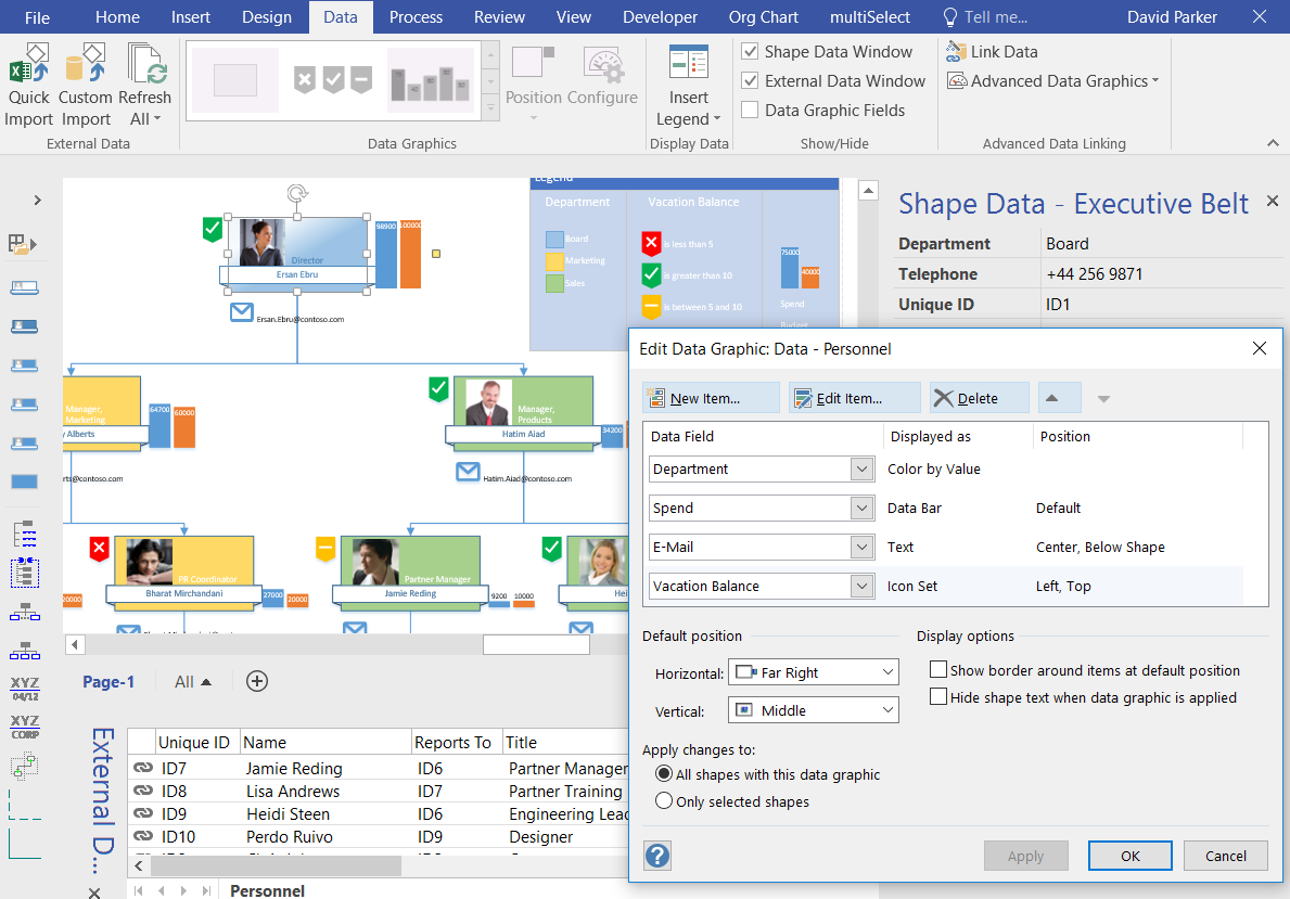 visio series creating organizational charts
