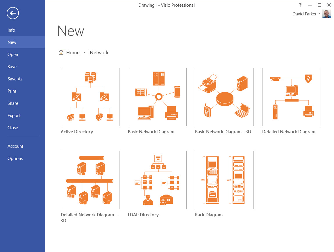 Simple network diagrams for Visio detailed network diagram template