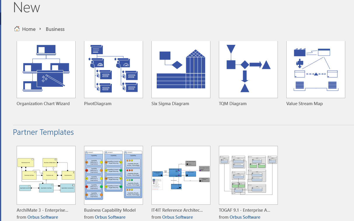 visio template for software architecture - third party templates in visio pro orbus visio blog